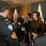 GG2014-0437-011 November 11, 2014 Ottawa, Ontario, Canada 	 Their Excellencies the Right Honourable David Johnston, Governor General of Canada, and Mrs. Sharon Johnston joined by Her Royal Highness and Vice Admiral Laurence, met with members of the Royal Canadian Hussars in Rideau Hall, on Tuesday, November 11, 2014.  As commander-in-chief of Canada, His Excellency presented Her Royal Highness with the third clasp of the Canadian Forces Decoration.  Credit: MCpl Vincent Carbonneau, Rideau Hall, OSGG