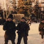 Mike Berube and Pierre Godon Winter training Chapleau 1979.