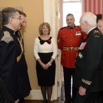 GG2014-0437-006 November 11, 2014 Ottawa, Ontario, Canada 	 Their Excellencies the Right Honourable David Johnston, Governor General of Canada, and Mrs. Sharon Johnston joined by Her Royal Highness and Vice Admiral Laurence, met with members of the Royal Canadian Hussars in Rideau Hall, on Tuesday, November 11, 2014.  As commander-in-chief of Canada, His Excellency presented Her Royal Highness with the third clasp of the Canadian Forces Decoration.  Credit: MCpl Vincent Carbonneau, Rideau Hall, OSGG
