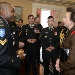 GG2014-0437-010 November 11, 2014 Ottawa, Ontario, Canada 	 Their Excellencies the Right Honourable David Johnston, Governor General of Canada, and Mrs. Sharon Johnston joined by Her Royal Highness and Vice Admiral Laurence, met with members of the Royal Canadian Hussars in Rideau Hall, on Tuesday, November 11, 2014.  As commander-in-chief of Canada, His Excellency presented Her Royal Highness with the third clasp of the Canadian Forces Decoration.  Credit: MCpl Vincent Carbonneau, Rideau Hall, OSGG