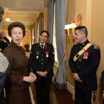 GG2014-0437-012 November 11, 2014 Ottawa, Ontario, Canada 	 Their Excellencies the Right Honourable David Johnston, Governor General of Canada, and Mrs. Sharon Johnston joined by Her Royal Highness and Vice Admiral Laurence, met with members of the Royal Canadian Hussars in Rideau Hall, on Tuesday, November 11, 2014.  As commander-in-chief of Canada, His Excellency presented Her Royal Highness with the third clasp of the Canadian Forces Decoration.  Credit: MCpl Vincent Carbonneau, Rideau Hall, OSGG